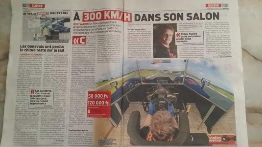 "Article dans le journal ""Le Matin"" de Laura Juliano et photos de Jean-Guy Python"